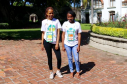 JASA Alumni Kate Kekana and Ashley Dhlamini attend the first ever JA Global Youth Forum